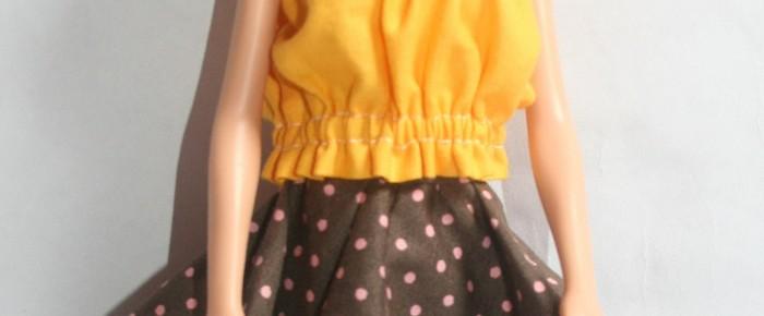 Nyári gumis barbie top