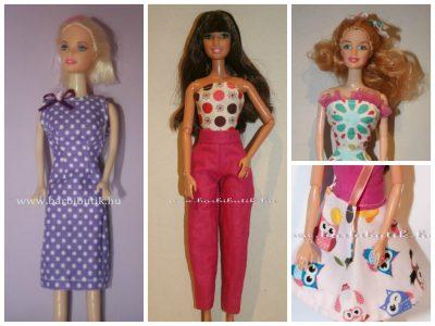 Barbie ruha nadrág, szoknya, top,