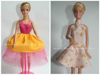 tavaszi barbie ruha és  balerina ruha