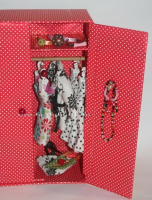barbie szekrény ékszertartó
