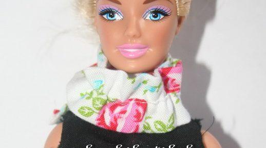 Gyorsan megvarrható barbie sál
