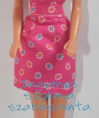 barbie szűkített szoknya szabásminta