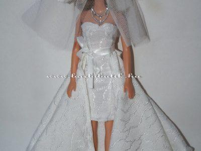barbie menyasszonyi ruha fátyol ékszer
