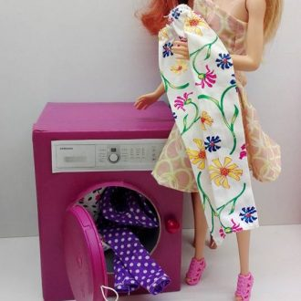 Mosógép készítése barbieknak