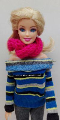 barbie pulóver és sál