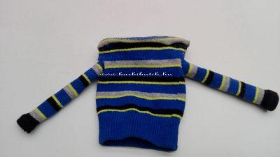 pulóver készítés barbienak zokniból