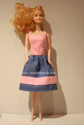 kék rózsaszín barbie ruha két pánttal