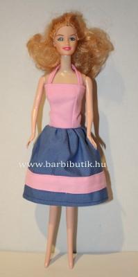 kék rózsaszin barbie ruha nyakpánttal