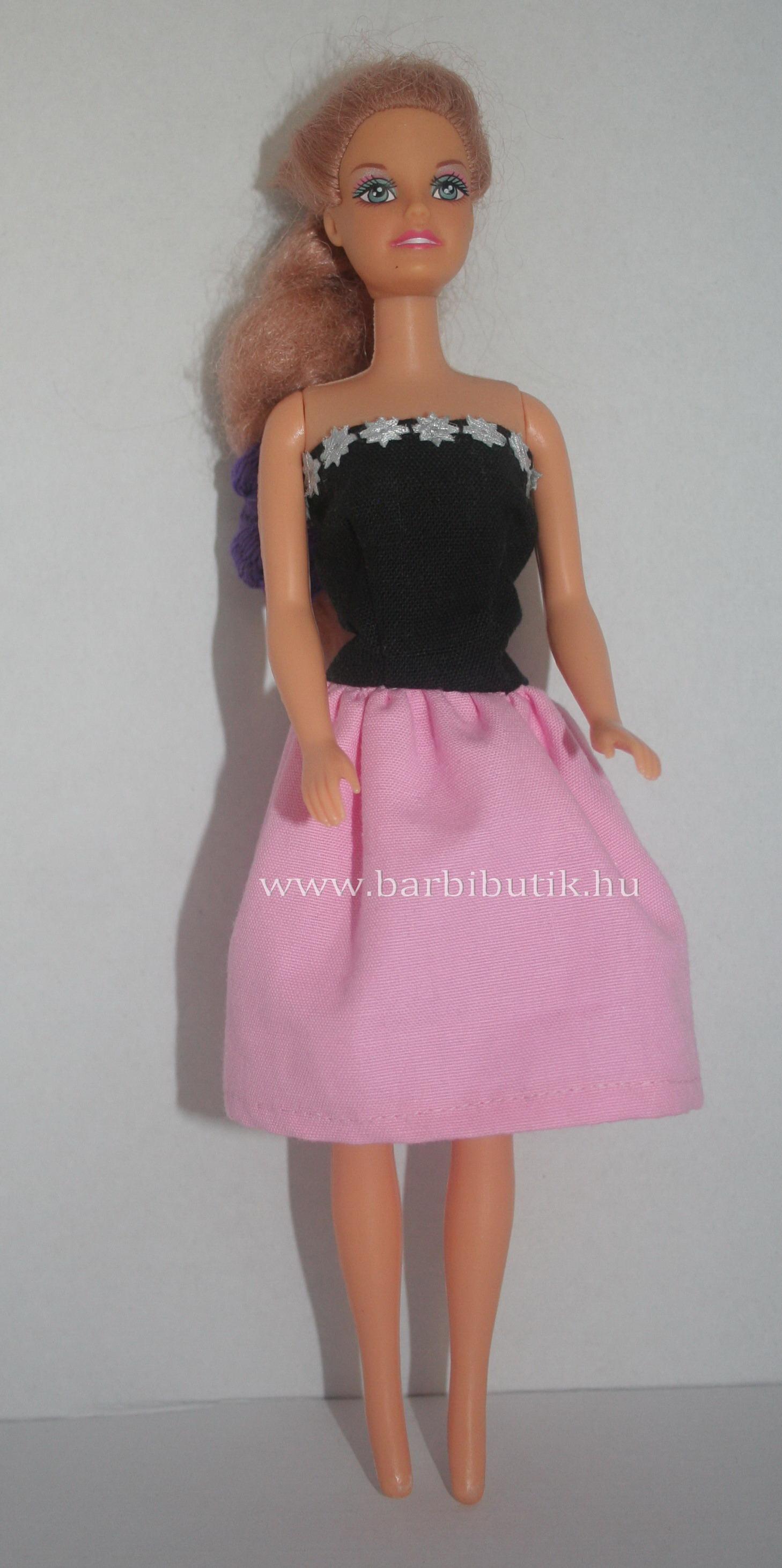 fekete rózsaszín nyári ruha