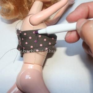 barbie bikini felső készítése