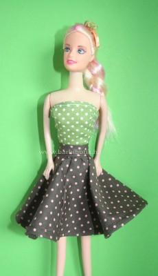 Barbie ruha  és hajráf