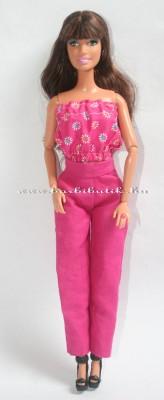 pink barbie nadrág pink top