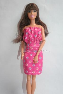 pink barbie szoknya pink gumis top