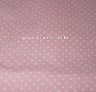 pamutvászon rózsaszín fehér pöttyökkel