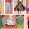 9 db os barbie ruha készítő csomag