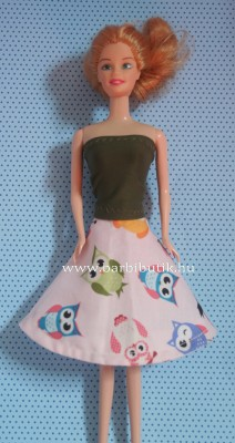 barbie ruha top szoknyával