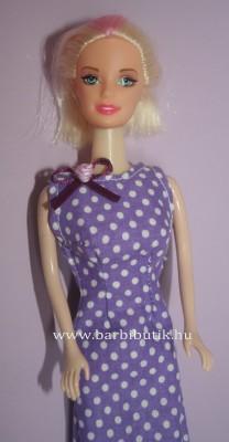 lila pöttyös szűkített barbie ruha