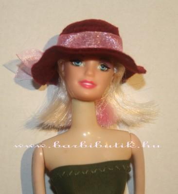 barbie kalap rózsaszín szalaggal
