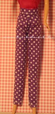 lila pöttyös barbie nadrág