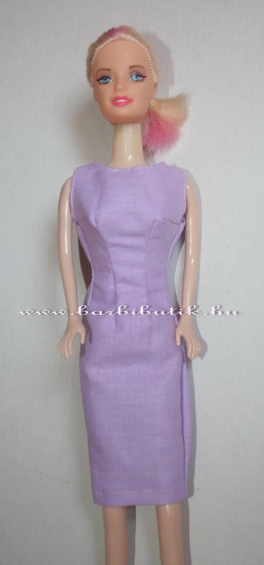 lila szűkített ujjatlan barbie ruha