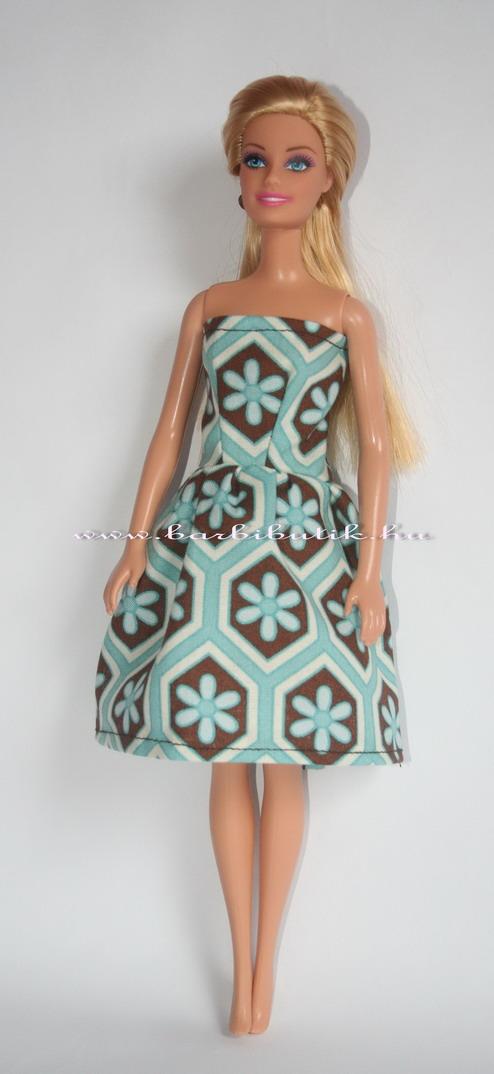 barbie ruha barna kék
