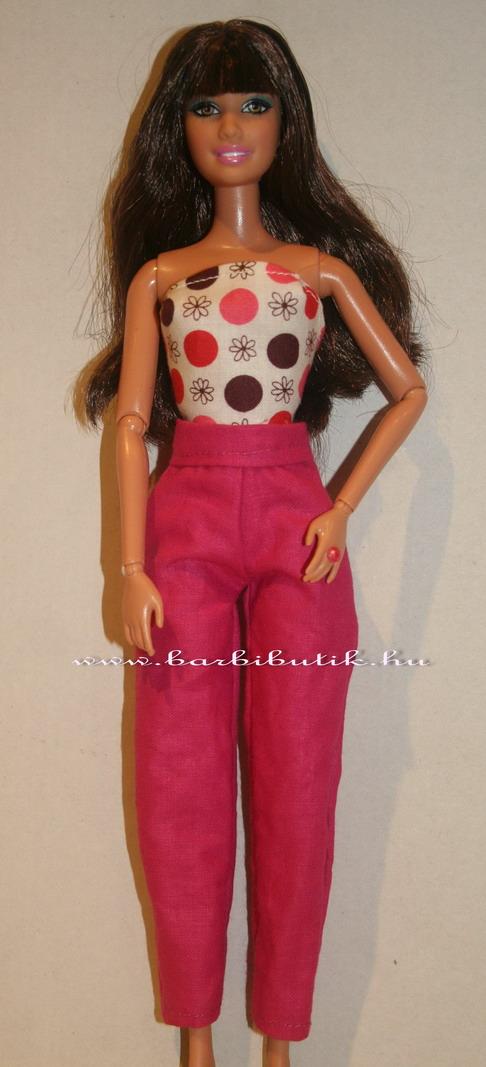 barbie ruha nadrág toppal
