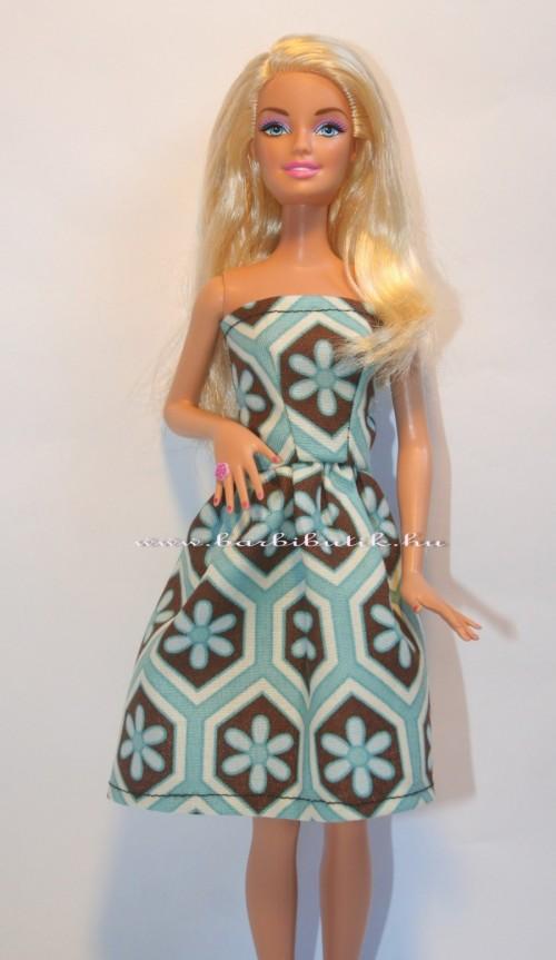 barna kék barbie ruha