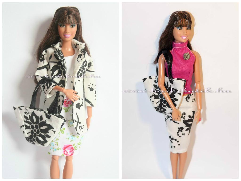 barbie ruha, kabat szoknya felso