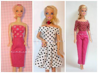 barbie ruha szabásminta csomag