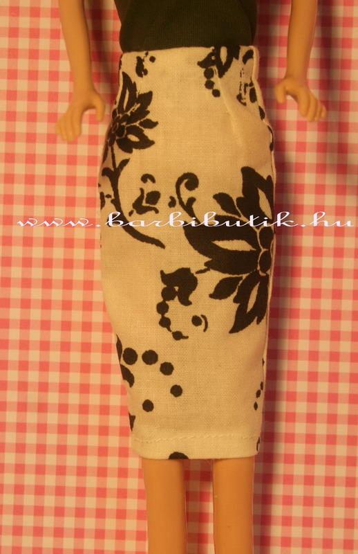 fekete fehér barbie ruha szoknya