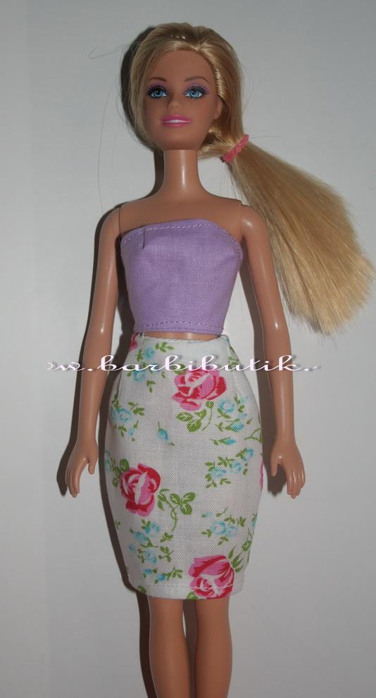 barbie ruhák rózsás szoknya lila top