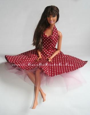 pöttyös tavaszi barbie  ruha tüll alsószoknyával 2