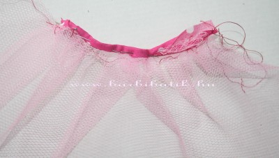 rózsaszín barbie tüll szoknya készítés