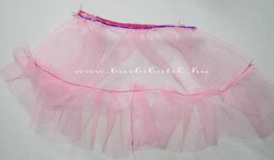 rózsaszín barbie tüll szonyka készítés 2