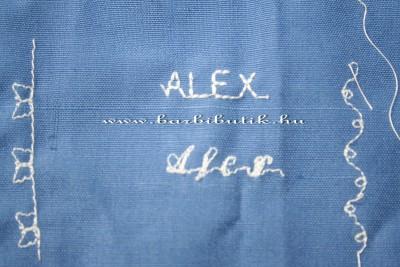 alex név hímzés