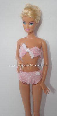 barbie bikini rózsaszín pöttyös