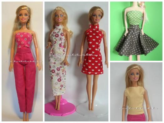 Letölthető Barbie ruha szabásminta csomag