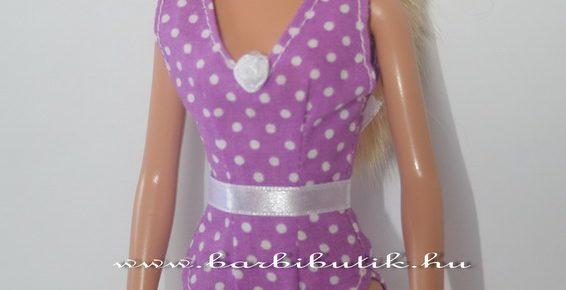 Egyrészes fürdőruha Barbie babának szabásmintával