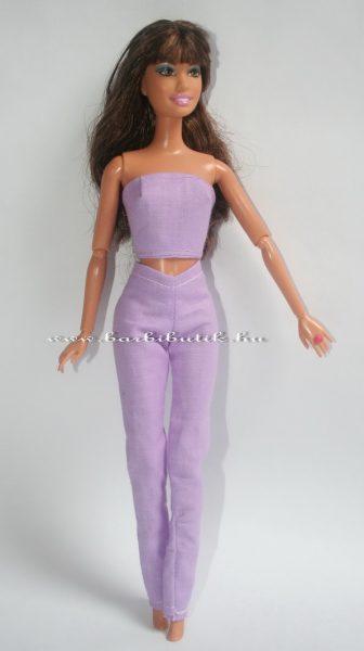 barbie nadrág lila együttes