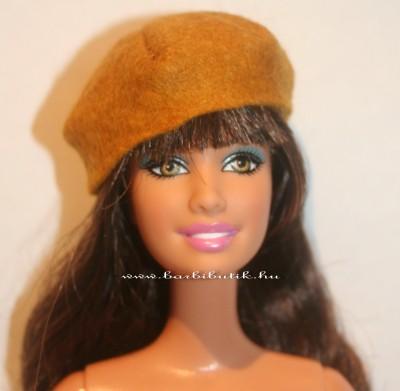 mustár színű barbie sapka