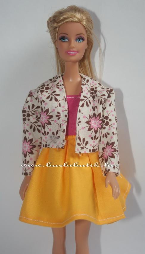 virágos barbie kabát balerina ruhával