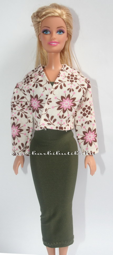 virágos barbie kabát csőruhával