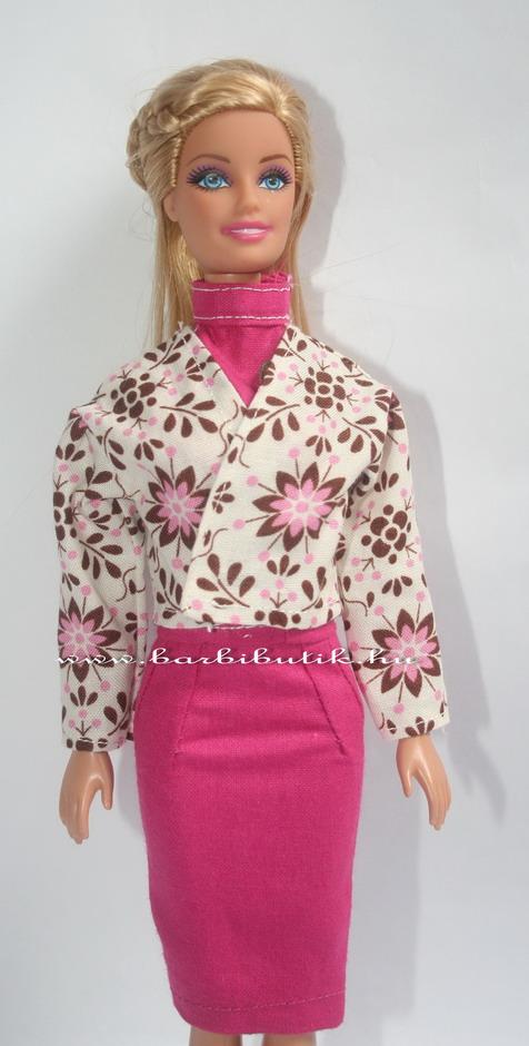 virágos barbie kabát