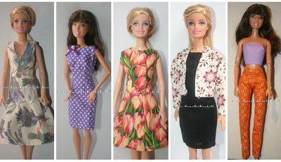 barbie ruha szabásminták és varrásleírások