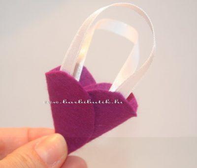 barbie táska filcből lila