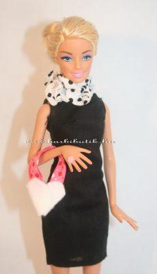 fehér barbie kistáska filcből