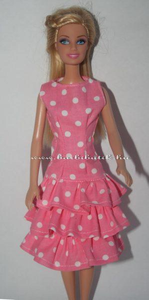 fodros pöttyös barbie ruha