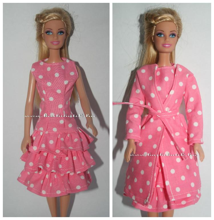 fordos barbie ruha kabáttal szett