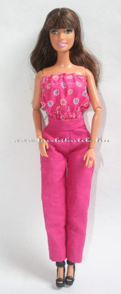 pink barbie nadrág és top