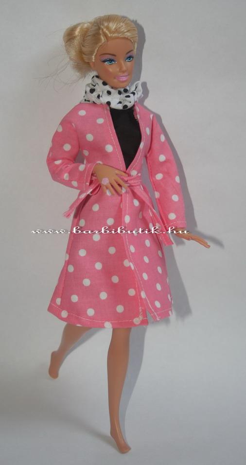 tavaszi barbie kabát sállal